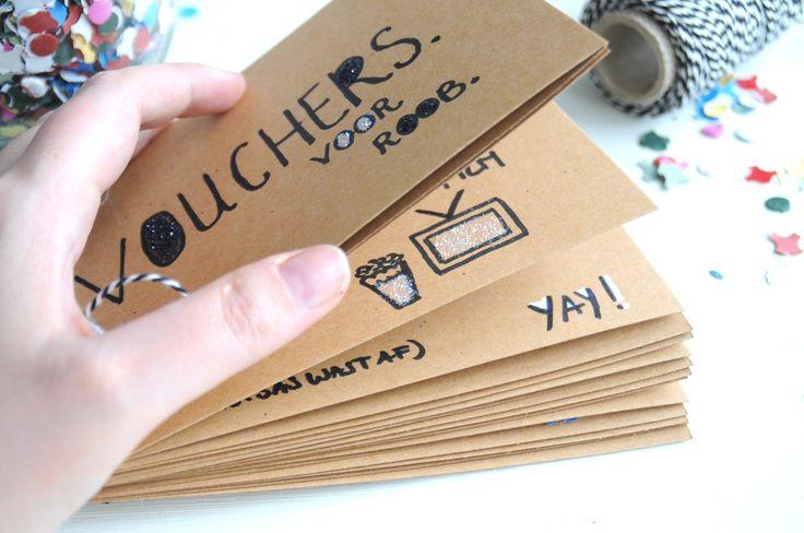 waardebon zelf maken papier