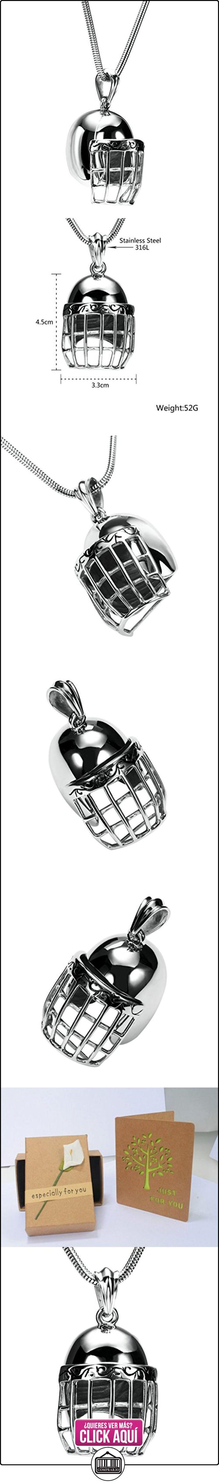 Daesar Joyería Collares de Hombre Acero Inoxidable Casco de Fútbol Americano Plata Colgantes Vintage 3.3X4.5cm  ✿ Joyas para niños - Regalos ✿ ▬► Ver oferta: https://comprar.io/goto/B01N426QCR
