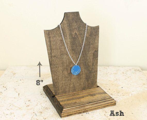 Дерево ювелирные изделия Дисплей 8-дюймовый, дисплей для ожерелья, деревянный, Бюст ожерелье стенд ожерелье держатель ожерелье, выбрать Морилку