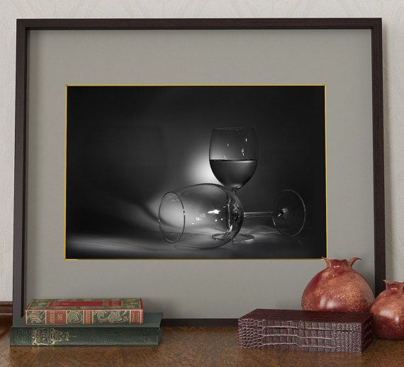 Stemware wall art, Wall decor, Dark poster , Photocollage, wall decor, Ptoto poster #walldecor #black&whitephotography