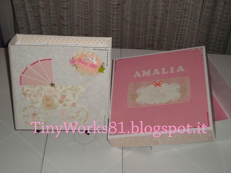 Mini Album Baby Girl Buona Domenica a tutti, oggi vi mostro il Mini Album Baby Girl, che ho fatto in questi giorni tutto rosaa!!!