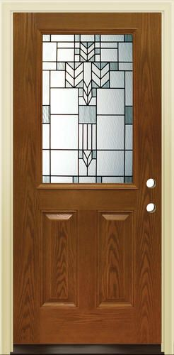 Mastercraft® MO-106 Early American Fiberglass Half-Lite Prehung Exterior Door at Menards