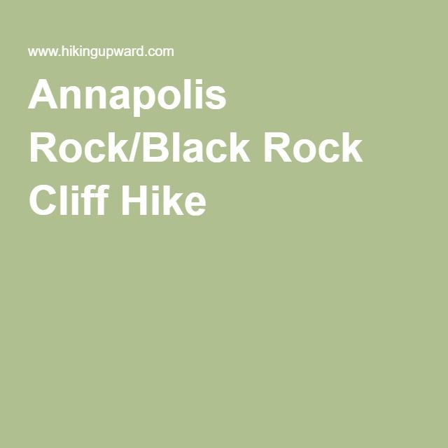 Annapolis Rock/Black Rock Cliff Hike