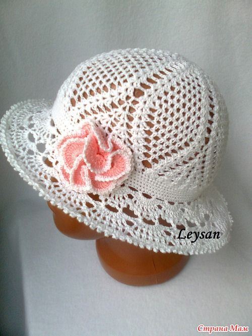 Crochet summer hat graph pattern with a very good diagram