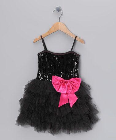 Love this Black Sequin Princess Dress - Toddler & Girls by Bébé Oh La La on #zulily! #zulilyfinds