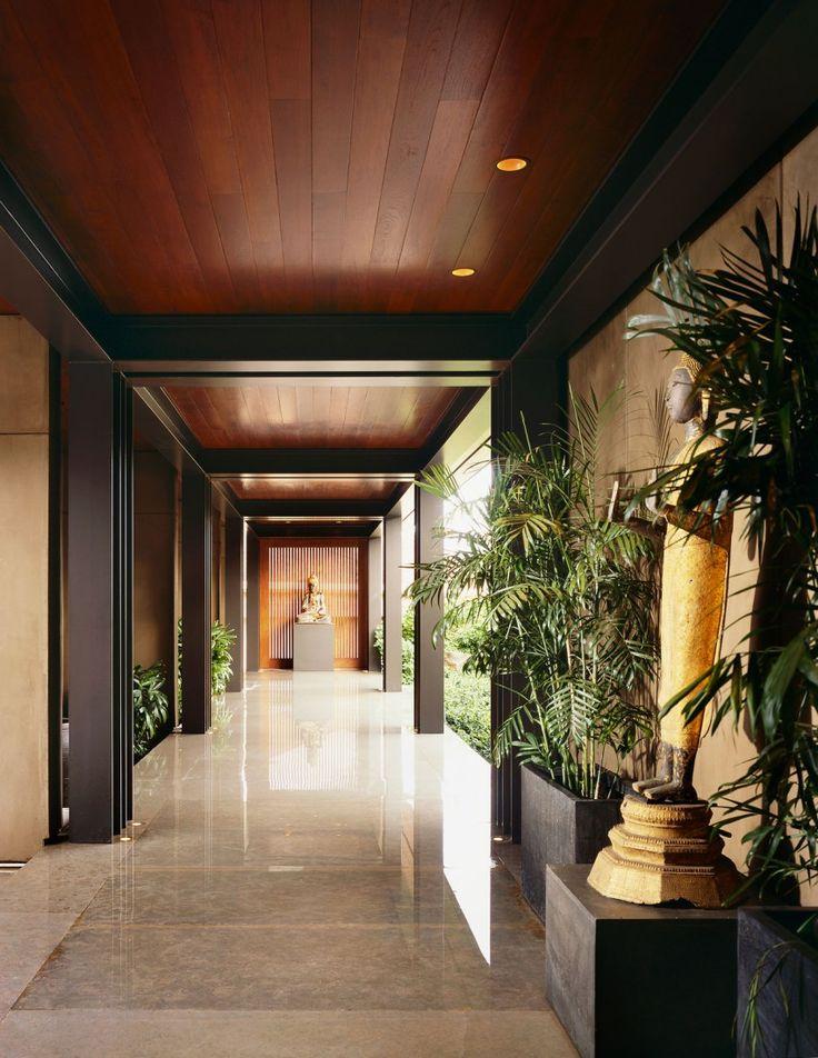 Best 25 corridor design ideas on pinterest office wall for Tropical interior designs