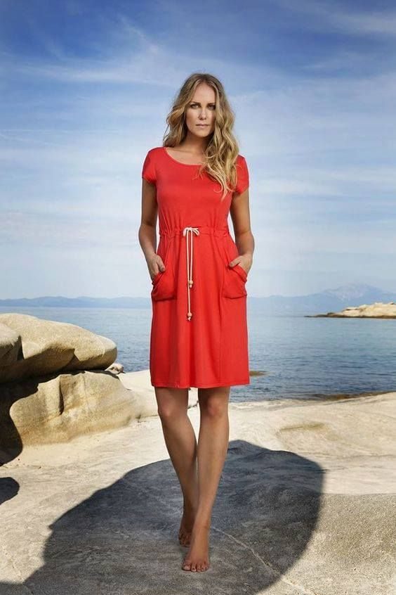 The pop-of-color #dress! This is the season for bright hues, make your choice now http://www.vampfashion.com/index.php/collections/P1042-women-beachwear-dress-95-viscose-5-elastane-6286 #beachwear