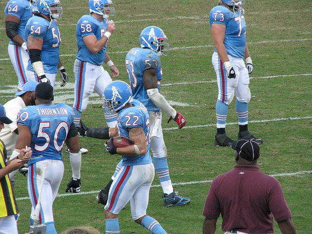 Titans defensive back #22 Vincent Fuller right after he intercepted Buffalo Bills Quarterback Trent Edwards and ran it in for a Titans Touch Down!!!!     Buy Cheap Buffalo Bills Tickets All Games!  We Have Great Deals On Bills Tickets.