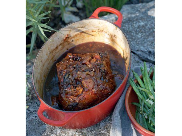 Rezept: Geschmorte Schweineschulter mit Cidre
