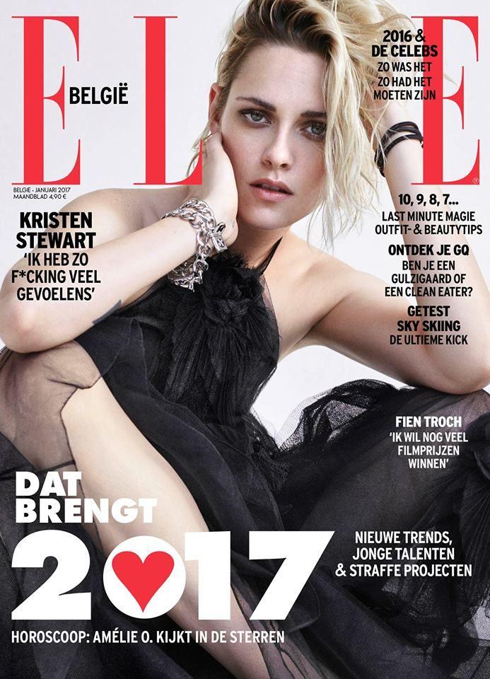 Kristen Stewart for Elle Belgium January 2017