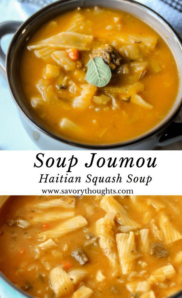 Soup Joumou Haitian Squash Soup Recipe Haitian Food