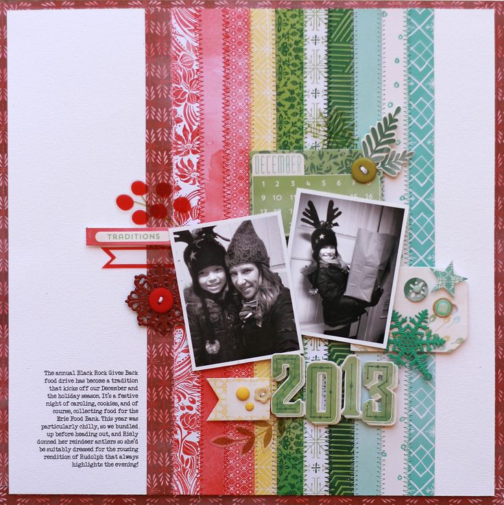 Lisa Dickinson for BasicGrey (using Evergreen collection). LIke the strips good way to use scraps
