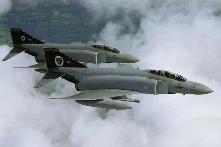 RAF Phantom FGR2's of 74 Squadron.