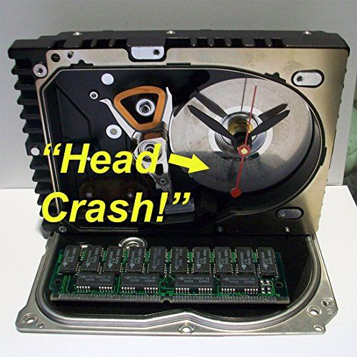 Hard Drive Clock with Rare RAM Random Access Memory Head Crashed Disk >>> Read more reviews of the product by visiting the link on the image. (Note:Amazon affiliate link)