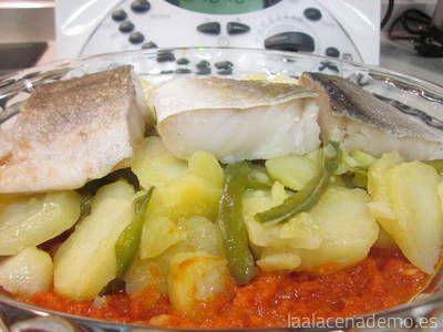 Paso 10: coloca el bacalo en la fuente para gratinar en el horno.