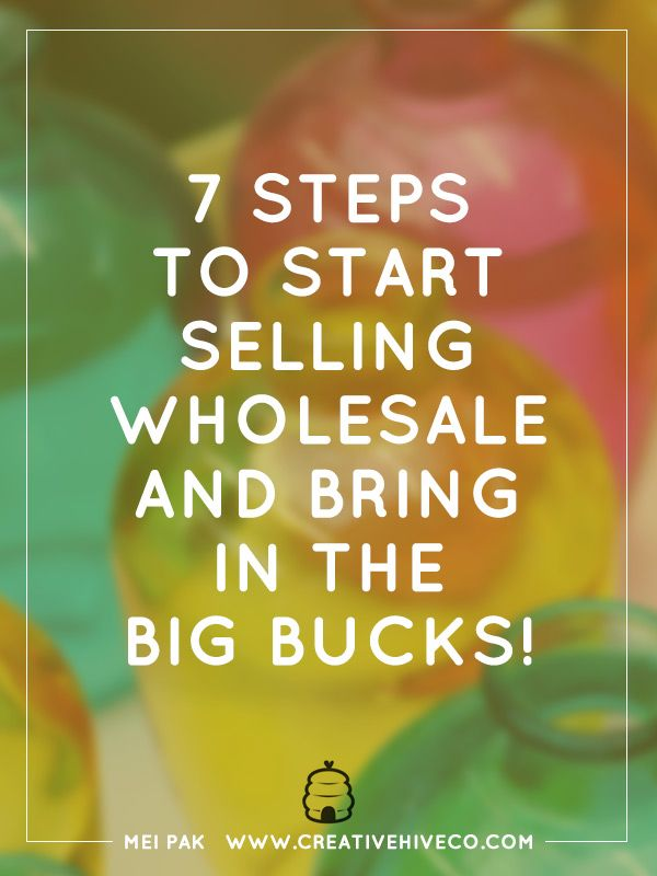 Are you thinking about taking that plunge into selling wholesale to brick and mortar stores? Check out this post for 7 steps to start selling wholesale!