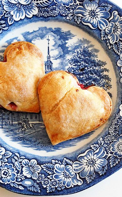 Heart shape pies.