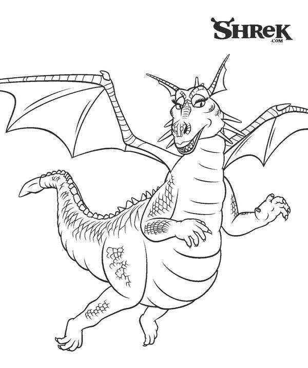 Les 64 meilleures images du tableau dessins shrek sur for Shrek dragon coloring pages