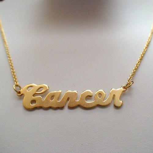 Gold Cancer Horoscope Necklace