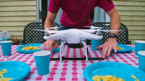 Can a drone clear the table? Read more Technology News Here --> http://digitaltechnologynews.com  You spent all night cooking and now you just want to sit back on the couch and watch Netflix. Well fear not. Just strap a drone on to your tablecloth and watch your dinner table get cleared off in seconds.  Watch Usain Bolt drop the mic on James Corden with an epic rap battle  Someone help this koala mum; she has a stage five clinger on her face  Syria's White Helmets apologise for…