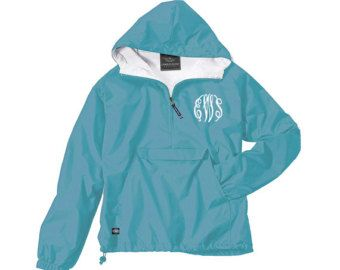 Monogram Light Weight Pullover. Monogrammed by Whynotstopnshop