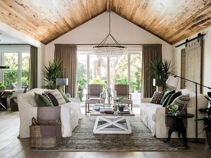 The dreamy living room of the @HGTV 2017 Dream Home. Did you see the reveal episode? What did you all think? It's 5 below zero right now so now would be a nice time to move in and start getting settled.... #rusticahardware