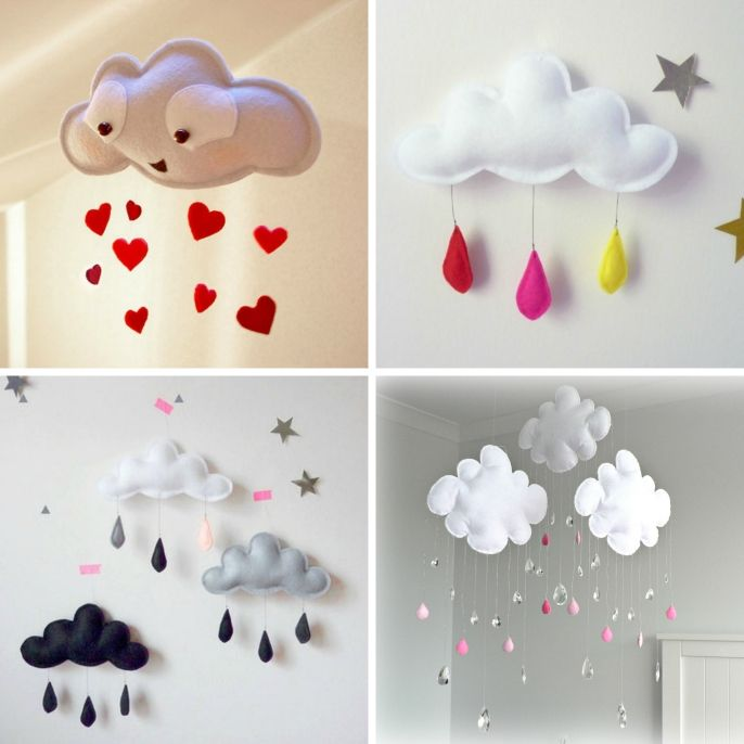 Craft This Cloud Mobile for Your Baby Nursery - http://www.amazinginteriordesign.com/craft-cloud-mobile-baby-nursery/