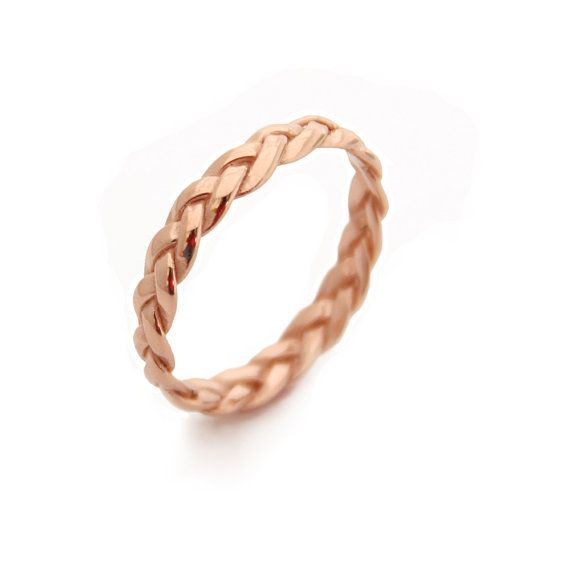 Hey, I found this really awesome Etsy listing at https://www.etsy.com/listing/196349385/braided-rose-gold-ringgold