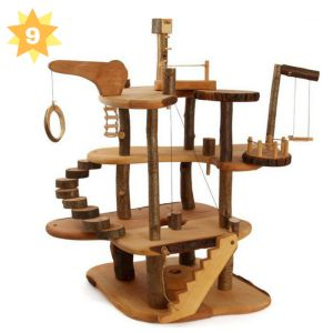 Magic Wood toys are handmade in Europe using sustainable timbers and natural plant dyes. Their Eco Blocks and Tree Houses are made from reclaimed cherry, apple and elder trees and finished with natural flax oil. Sanded and oiled for playability and long-lasting durability. Magic Wood toys bring children in touch with nature. Their vision is to provide fun and learning-oriented toys produced in a socially and ecologically responsible way. They harm no living tree to produce their Eco Blocks…