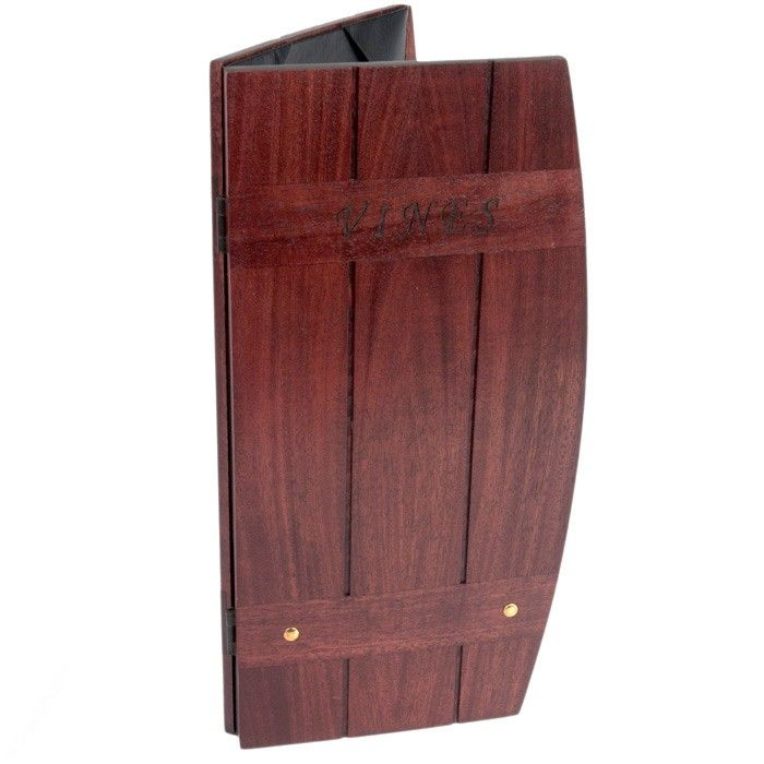 Menu Cover, Menu Covers, Wood Menu Covers, Wood Barrel Menu Cover, Idea Board Wood Covers. http://www.allbookcovers.com - Click the Contact link, fill out the form and request an order today!