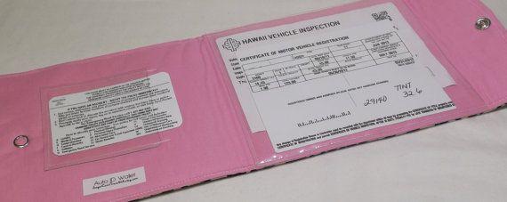 Car Registration Holder  Auto ID Wallet  Car by sugarcanetrain808