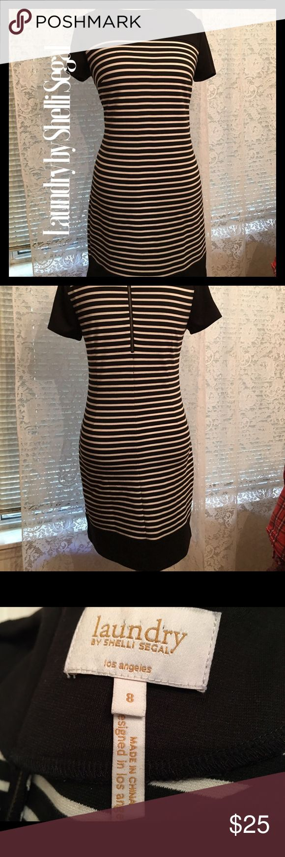 Black/White Striped Dress Laundry by Shelli Segal Black/White Striped Dress Laundry by Shelli Segal. Wonderful condition. Rarely worn. There is perfect Laundry blazer in my closet that matches. Laundry by Shelli Segal Dresses
