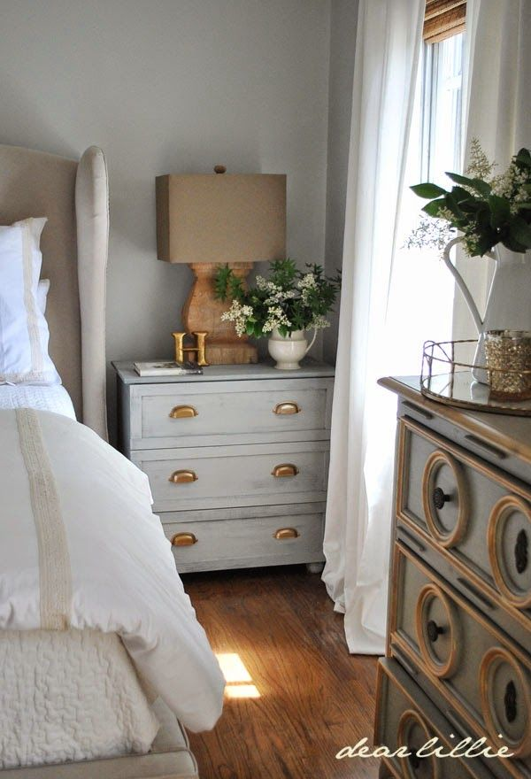 Master Bedroom Night Stand Tutorial (IKEA Tarva Hack)  by Dear Lillie