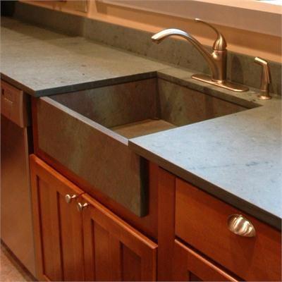 honed slate countertop | Slate Countertop,Sheldon Slate,Honed Vermont Slate Sink