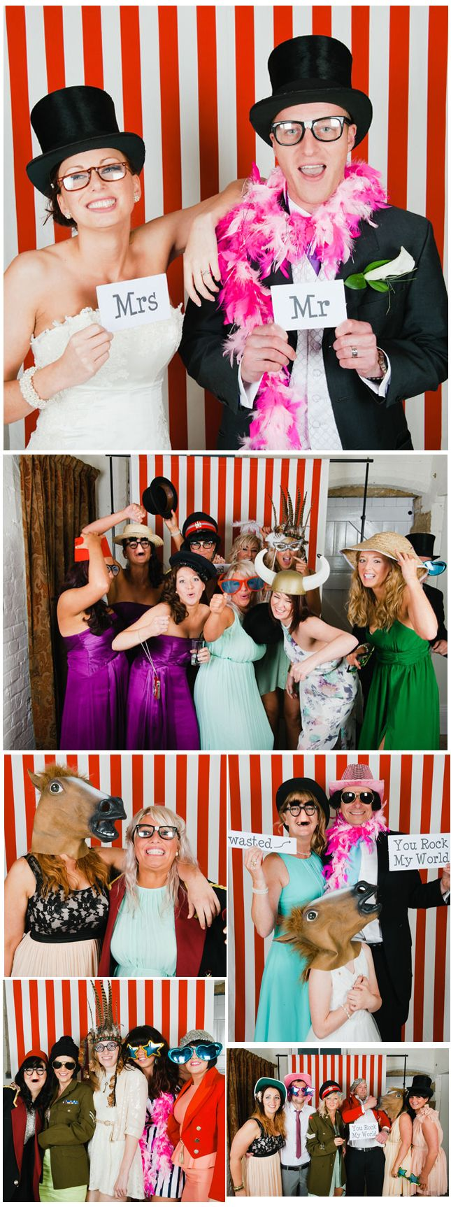 Photo Booths are great for entertainment in the evening - your guests will get really involved!