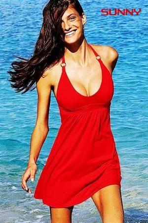 SUNNY Dámské letní šaty vzdušné červené