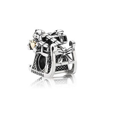 Santa's sleigh is loaded with holiday favorites. $65 #PANDORA #PANDORAcharm #Silver #Gold #ChristmasCollection