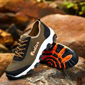 Breathable Mesh Lace Up Sport Running Athletic Shoes - US$24.89