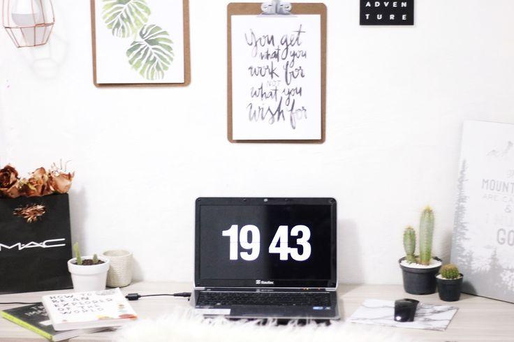 Tutorial: Descanso de Tela de Relógio | Fliqlo Pinterest inspired decoração