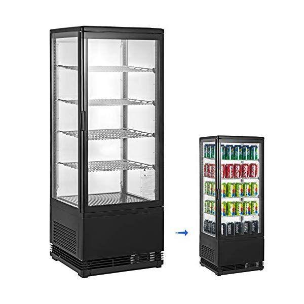 Vbenlem 3 5 Cu Ft Commercial Beverage Refrigerator 98l Glass Door