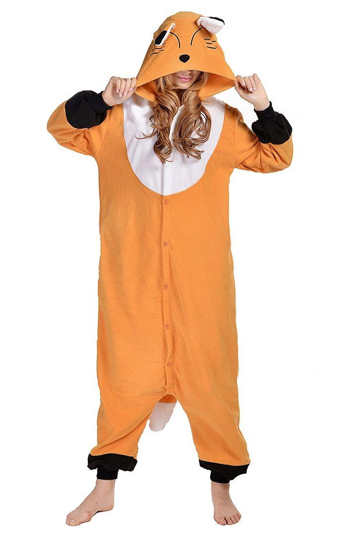 Newcosplay Unisex Fox Pyjamas Halloween