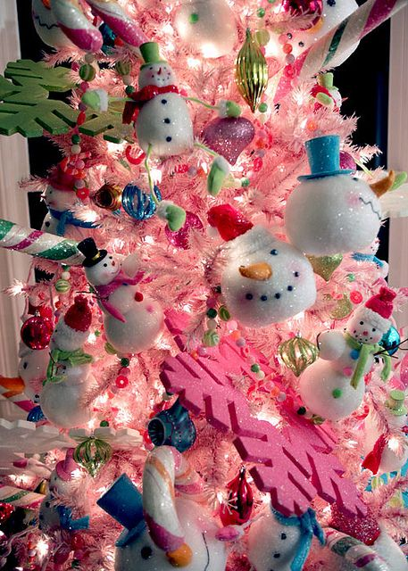 This inspired my obsession with pink Christmas trees