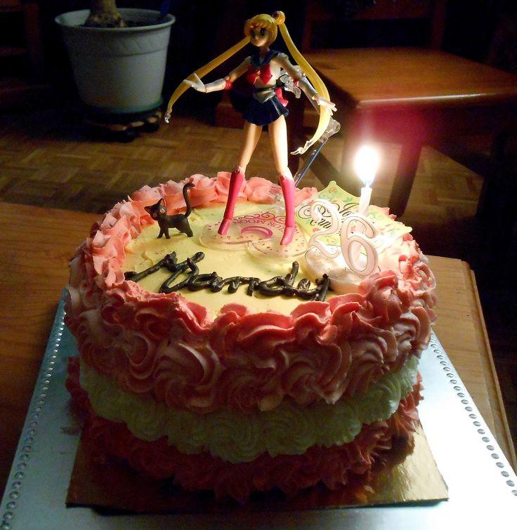 Pomme Cannelle: Un gâteau d'anniversaire Sailor moon très girly