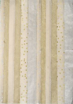 Quilted Metallics On Natural Fine Paper