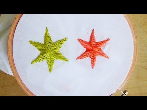 Hand Embroidery: Star Stitch - YouTube