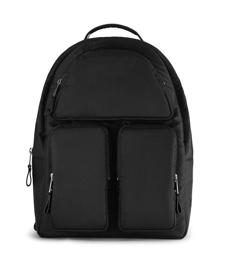 REISS REPORTER LEATHER TRIM BACKPACK BLACK. #reiss #bags #leather #lining #polyester #nylon #backpacks #