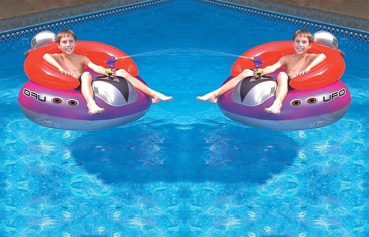 UFO Squirter Toy Inflatable Lounge Chair Pool Float Swim Spaceship 2 Pack New     eBay