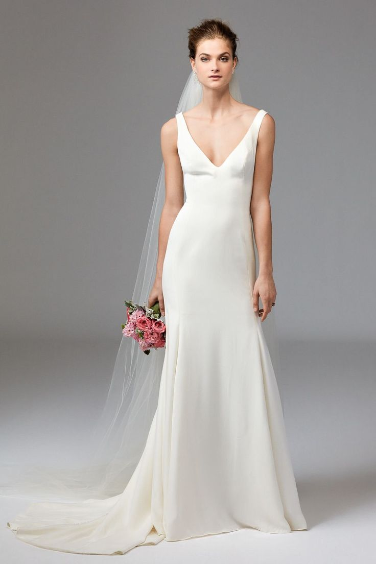 25 best ideas about plain wedding dress on pinterest for Shop simple wedding dresses