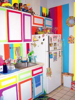 Bright Rainbow Kitchen Decor