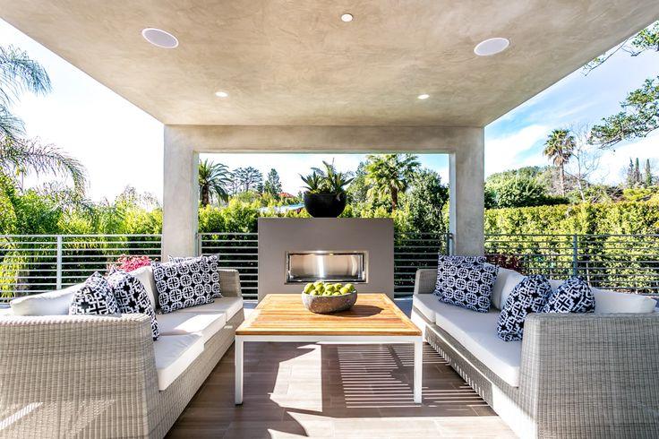 Organic wood-toned outdoor furniture